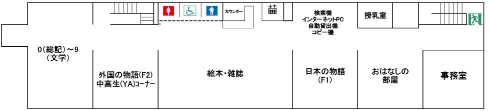 画像:こども図書館3階フロア図