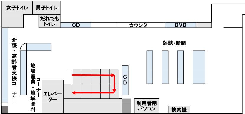 画像:下落合図書館1階フロア図