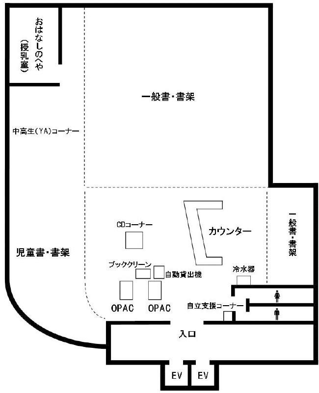 画像:角筈図書館5階フロア図