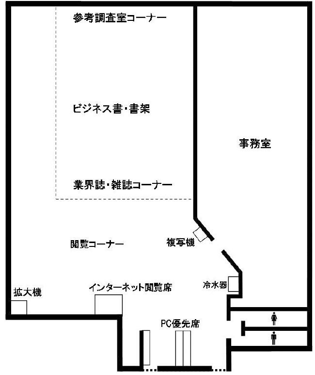 画像:角筈図書館6階フロア図