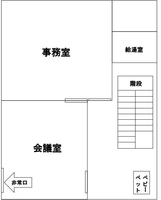 画像:鶴巻図書館3階フロア図
